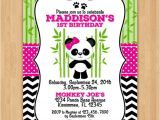 Panda Bear Birthday Party Invitations Cute Panda Bear Birthday Invitation by Little Rainbow
