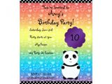 Panda Bear Birthday Party Invitations Cute Panda Bear Birthday Invitation Zazzle