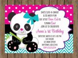 Panda Bear Birthday Party Invitations Panda Bear Birthday Invitation Panda Invitation Panda