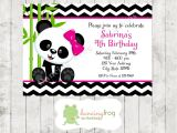 Panda Bear Birthday Party Invitations Panda Bear Birthday Invitations Printed Panda Bear Birthday