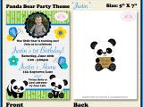 Panda Bear Birthday Party Invitations Panda Bear Boy Photo Birthday Party Invitation Justin theme