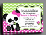 Panda Bear Birthday Party Invitations Panda Invitation Printable or Printed with Free Shipping