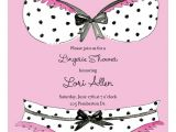 Panty Party Invitations Bra and Panties Lace Invitation Polka Dot Design