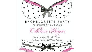 Panty Party Invitations Bra and Panties Polka Dots Bachelorette Party Invitations
