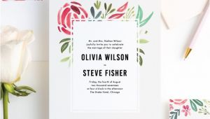 Paper Culture Wedding Invitation Strokes Of Floral Wedding Invitations Paper Culture