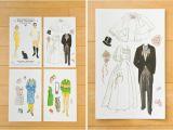 Paper Dolls Wedding Invitations Creative Ideas for Wedding Invitations Printingdeals org