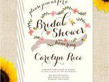 Paper source Bridal Shower Invitations Semi Diy Printable Invites – Rifle Paper Inspired