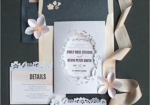 Papercut Wedding Invitations Blush Watercolor Papercut Wedding Invitations Lia Griffith