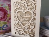 Papercut Wedding Invitations Personalised Papercut Wedding Card by Pogofandango