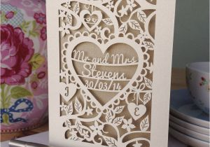 Papercut Wedding Invitations Personalised Papercut Wedding Card by Pogofandango