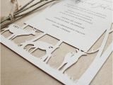 Papercut Wedding Invitations Woodland Papercuts Papercut Wedding Invitations Reply