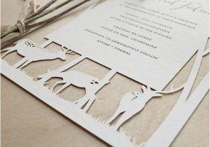 Papercut Wedding Invitations Woodland Papercuts Papercut Wedding Invitations Reply