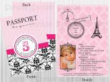 Paris Passport Baby Shower Invitations Parisian Baby Shower Invitations