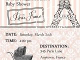Paris Passport Baby Shower Invitations Passport to Paris Baby Shower Invitation by