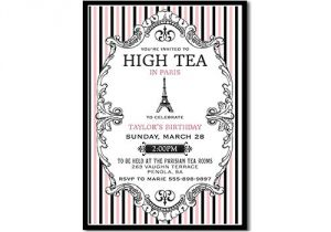 Paris Tea Party Invitation Paris High Tea Invitation Paris Tea Party Invitation Printable