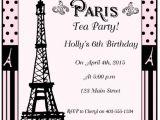Paris Tea Party Invitation Paris Tea Party and Printables Moms Munchkins