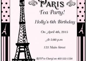 Paris Tea Party Invitation Paris Tea Party and Printables Moms Munchkins