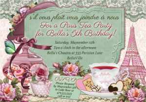 Paris Tea Party Invitation Paris Tea Party Parisian themed Tea Party Tea Party