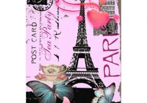 Paris Tea Party Invitation sophisticated Paris Eiffel tower Vintage Tea Party 5×7