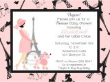 Paris themed Baby Shower Invites Paris Baby Shower Invitations