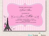 Paris themed Birthday Party Invitation Wording Paris themed Birthday Party Invitation Wording Jin S