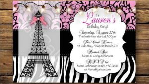 Paris themed Birthday Party Invitation Wording Paris themed Home Birthday Party Ideas Home Party theme