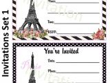Paris themed Party Invitations Free 8 Best Images Of Printable Paris Invitations Free