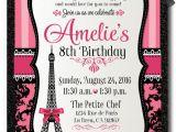 Paris themed Party Invitations Free Birthday Invitation Templates Paris themed Birthday