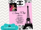 Paris themed Quinceanera Invitations Paris Chanel Quinceanera Invites Photo Paris