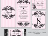 Paris themed Quinceanera Invitations Paris theme Quinceanera or Quince Anos Invitation Sweet