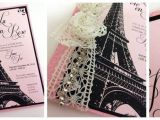 Paris themed Quinceanera Invitations Vintage Paris themed Invitation Quinceanera Ideas