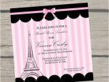 Parisian Bridal Shower Invitations Paris themed Bridal Shower Invitations