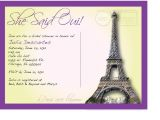 Parisian themed Bridal Shower Invitations 20 Best Images About French Party On Pinterest