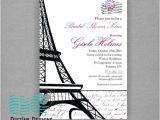 Parisian themed Bridal Shower Invitations Bridal Shower Invitations Bridal Shower Invitations Paris