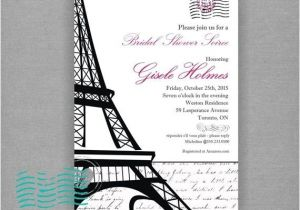 Parisian themed Bridal Shower Invitations Bridal Shower Invitations Bridal Shower Invitations Paris