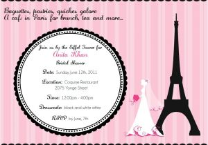 Parisian themed Bridal Shower Invitations Cafe In Paris Bridal Shower Invitation Digital File