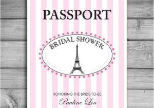 Parisian themed Bridal Shower Invitations Customized Bridal Shower Invitations Paris Parisian