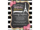 Parisian themed Bridal Shower Invitations French Paris Bridal Shower Invitation