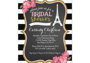 Parisian themed Bridal Shower Invitations French Paris Bridal Shower Invitation