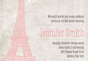Parisian themed Bridal Shower Invitations Paris Bridal Shower Invitation