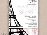 Parisian themed Bridal Shower Invitations Paris Bridal Shower Invitation Printable 5×7 Eiffel