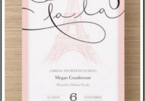 Parisian themed Bridal Shower Invitations Paris theme themed Bridal Showers and Bridal Shower