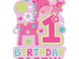 Party City 1st Birthday Invitations 8 Einladungskarten 1 Geburtstag Madchen Tiere