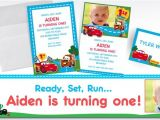 Party City 1st Birthday Invitations Custom Cars 1st Birthday Invitations Thank You Notes