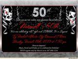 Party City 50th Birthday Invitations atlantic City 50th Birthday Invitation Casino Party Cards