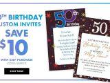 Party City 50th Birthday Invitations Custom Banners for Milestone Birthdays