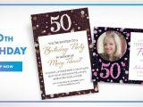 Party City 50th Birthday Invitations Custom Milestone Birthday Invitations