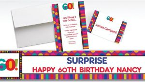 Party City 60th Birthday Invitations Custom Birthday Dots & Stripes 60th Invitations Party City