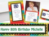 Party City 80th Birthday Invitations Custom A Year to Celebrate 80th Invitations Party City