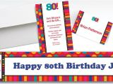 Party City 80th Birthday Invitations Custom Birthday Dots Stripes 80th Invitations Party City